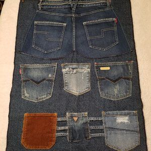 UpCycled DENIM Wall Hanging Supply Organizer NEW*